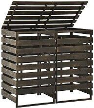 Butifooy Mülltonnenbox für 2 Tonnen 140x75x121