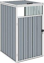 Butifooy Mülltonnenbox Grau 72×81×121 cm Stahl