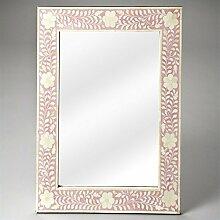 Butler Specialty Heritage Vivienne Pink Bone Inlay Wandspiegel–3221070