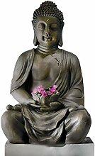 Butlers Buddha Deko-Figur mit Windlicht - Buddah -