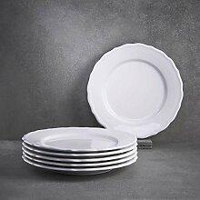 BUTLERS Eaton Place Klassische Schale aus Keramik /Ø 14 cm in Wei/ß Geschirr-Set Suppenschale im romantischen Stil