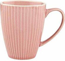 BUTLERS Hanami Kaffeetasse in Pink mit Streifen