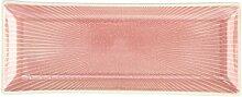 BUTLERS HANAMI Teller rechteckig Streifen pink