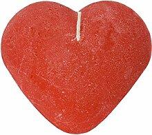 Butlers Heart Herzkerze - rot - handgemacht -