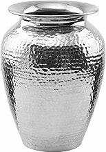 BUTLERS Oriental Lounge Orientalische Vase - Alumium - gehämmert - 21cm