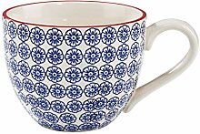 BUTLERS Retro Tasse 550ml - Blaue Kaffeetasse