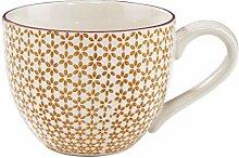BUTLERS Retro Tasse 550ml - Gelbe Kaffeetasse
