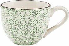 BUTLERS Retro Tasse 550ml - Grüne Kaffeetasse