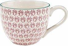 BUTLERS Retro Tasse 550ml - Rote Kaffeetasse