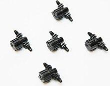 buttacup, vari-flow Kugelhahn 4mm (Gewinde) für Micro-Bewässerung, 5Stück
