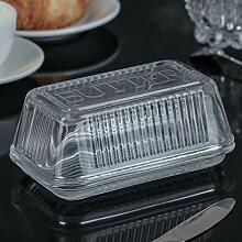 Butterdose aus Glas mit Deckel (Design 1)