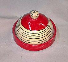 Butterdose rund oder kleine Käseglocke Keramik