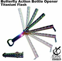 Butterfly Action Bottle Opener: Titanium Flash by