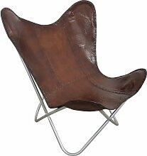 Butterfly Chair Sessel Design Lounge Stuhl glatt