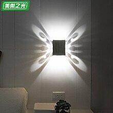 Butterfly Wandleuchte led Einfache moderne Hintergrund Wand am Bett Zimmer wand Wohnzimmer Lampe gang Dekoration Wein Badewanne KTV Lampe 3 WLED-lila Outfit, 3W Weiß