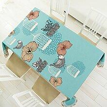 buuyi Tischdecke Esszimmer Tisch Leinen einfachen Stil Vogelkäfig 120x 120cm für Hochzeit Hotel Restaurant Modern Einfach