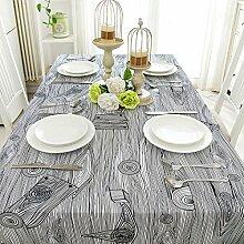 BUUYI Tischdecke Tischtuch Pflegeleicht 90x140cm Hochzeit Hotel Restaurant Modern einfach