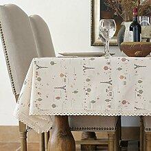 BUUYI Tischdecke Tischtuch Pflegeleicht amerikanischen Stil 90x140cm Hochzeit Hotel Restaurant Modern einfach