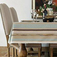 BUUYI Tischdecke Tischtuch Pflegeleicht amerikanischen Stil Grau 100x160cm Hochzeit Hotel Restaurant Modern einfach
