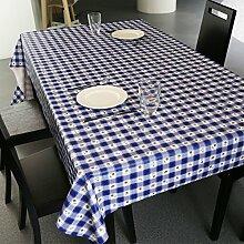 BUUYI Tischdecke Tischtuch Pflegeleicht Blau 120x120cm