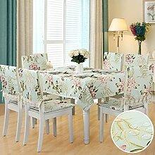 BUUYI Tischdecke Tischtuch Pflegeleicht Blumig 150x150cm Hochzeit Hotel Restaurant Modern einfach