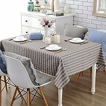 BUUYI Tischdecke Tischtuch Pflegeleicht Braun 140x180cm