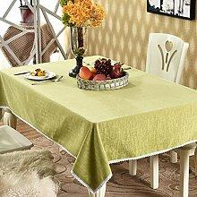 BUUYI Tischdecke Tischtuch Pflegeleicht chinesischen Stil Blau 120x120cm Hochzeit Hotel Restaurant Modern einfach