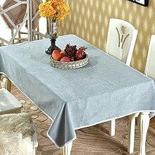 BUUYI Tischdecke Tischtuch Pflegeleicht chinesischen Stil Grau 140x210cm Hochzeit Hotel Restaurant Modern einfach
