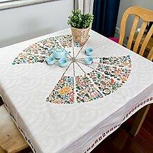 BUUYI Tischdecke Tischtuch Pflegeleicht Einfach kreativ 85x85cm Hochzeit Hotel Restaurant Modern einfach