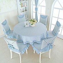 BUUYI Tischdecke Tischtuch Pflegeleicht Einfache Braun 180x180cm Hochzeit Hotel Restaurant Modern einfach