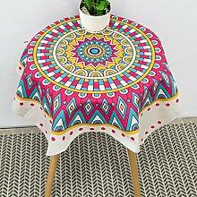 BUUYI Tischdecke Tischtuch Pflegeleicht Einfache kreative Lila 110x110cm Hochzeit Hotel Restaurant Modern einfach