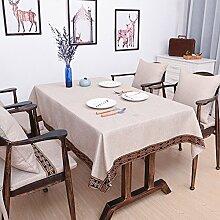 BUUYI Tischdecke Tischtuch Pflegeleicht Einfachen Stil Grau 110x110cm Hochzeit Hotel Restaurant Modern einfach