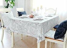 BUUYI Tischdecke Tischtuch Pflegeleicht Einfachen und modernen europäischen Stil weiß 90 x 90 cm Hochzeit Hotel Restauran