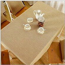 BUUYI Tischdecke Tischtuch Pflegeleicht Gelb 130x220cm