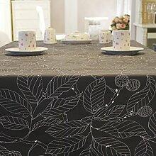 BUUYI Tischdecke Tischtuch Pflegeleicht Grau 120x180