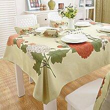 BUUYI Tischdecke Tischtuch Pflegeleicht Grün 140x140cm Hochzeit Hotel Restaurant Modern einfach