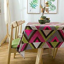 BUUYI Tischdecke Tischtuch Pflegeleicht Grün 140x250cm