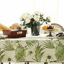 BUUYI Tischdecke Tischtuch Pflegeleicht Im europäischen Stil grün 145 x 220 cm Hochzeit Hotel Restauran