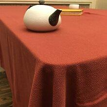 BUUYI Tischdecke Tischtuch Pflegeleicht Im europäischen Stil rot 130 x 220 cm Hochzeit Hotel Restauran
