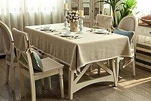 BUUYI Tischdecke Tischtuch Pflegeleicht Im europäischen Stil 100 x 100 cm Hochzeit Hotel Restauran