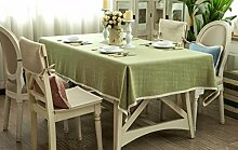 BUUYI Tischdecke Tischtuch Pflegeleicht Im europäischen Stil grün 100 x 100 cm Hochzeit Hotel Restauran