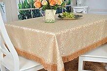 BUUYI Tischdecke Tischtuch Pflegeleicht Im europäischen Stil quadratisch 160 X 160 cm Hochzeit Hotel Restauran