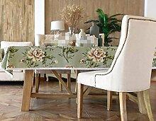 BUUYI Tischdecke Tischtuch Pflegeleicht Minimalistischer Stil grün 130 x 130 cm Hochzeit Hotel Restauran
