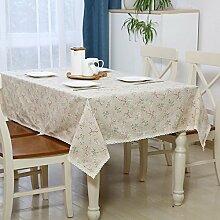 BUUYI Tischdecke Tischtuch Pflegeleicht Minimalistischer Stil Container 90 x 140 cm Hochzeit Hotel Restauran