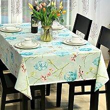 BUUYI Tischdecke Tischtuch Pflegeleicht Minimalistischer Stil Druck 135 X 180 cm Hochzeit Hotel Restauran