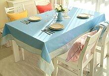BUUYI Tischdecke Tischtuch Pflegeleicht Minimalistischer Stil Stitching 200 X 140 cm Hochzeit Hotel Restauran