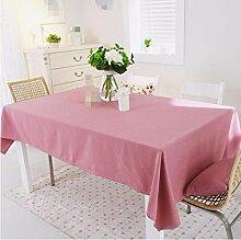 BUUYI Tischdecke Tischtuch Pflegeleicht Minimalistischer Stil rot 180 x 130 cm Hochzeit Hotel Restauran