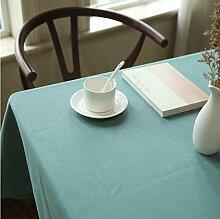 BUUYI Tischdecke Tischtuch Pflegeleicht Modern einfach Farbe grün 136 x 180 cm Hochzeit Hotel Restauran