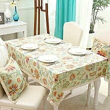 BUUYI Tischdecke Tischtuch Pflegeleicht Moderne minimalistische Druck 140 X 220 cm Hochzeit Hotel Restauran