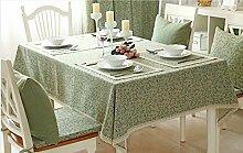 BUUYI Tischdecke Tischtuch Pflegeleicht Moderne minimalistische grün 100 x 160 cm Hochzeit Hotel Restauran